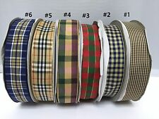 3-10 Metres Tartan Ribbon DIY Headwear Ribbon Berisford Ribbon 25mm