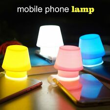 Creative Silicone Phone Flashlight Night Lamp Holder Cover For Smartphone SY