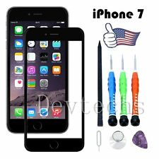 Front Outer Touch Screen Glass Lens Replacement Tools for Apple iPhone 7 Black