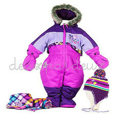 NWT Deux Par Deux infant girls snowsuit sz 6 month