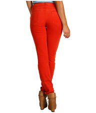 7 For All Mankind Skinny Corduroy w/Contoured Waistband Burnt Orange Women's