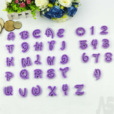36pcs Alphabet Letter Number Cookie Icing Cutter Cake Fondant Decorating Mould