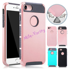 Film + Matte Rugged Rubber Hybrid Protector Hard Case Cover For iPhone 5C SE 5S