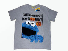 Men's Shirt T Shirt SESAME STREET Cookie monster Fanshirt Size XXL NEW