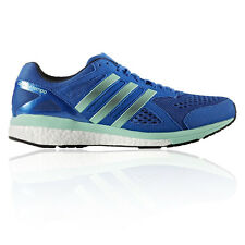 Adidas Adizero Tempo Mens Blue Cushioned Running Road Sports Shoes Trainers