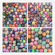 Wholesale!6/8/10/12mm Mixed Polymer Fimo Clay Round Ball Loose Spacer Beads pick
