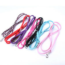 Pet Dog Leash Long Smooth PU Leather Leashes Solid Color Puppy Cat Lead Ropes