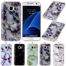 Glossy Marble Stone Pattern Soft Rubber Case Cover Skin For Samsung Galaxy Phone