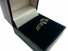 9CT White Gold Solatair Cubic Zirconia 2.3 Gram Ring 82270 - New, RRP £89.99