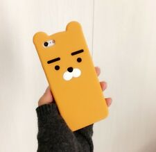 For iPhone 7 7 Plus  6 6S Stylish Funny Rough Eyebrows Bear Silicone Case Cover