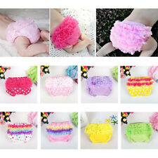 Newborn Baby Girls Panties PP Pants Bloomers Tulle Ruffle Diaper Nappy Covers