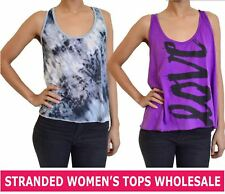 STRANDED WHOLESALE WOMEN'S CLOTHING TOP T-SHIRT TEE ASSORTED LOT MIXED SIZES NEW
