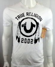 Nwt! TRUE RELIGION MEN'S SHIRT BIG CHIEF V NECK TEE, SZ L, 100% AUTHENTIC!!!!!!!