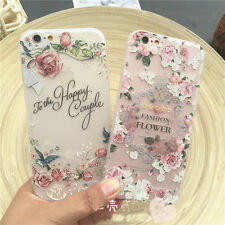 Rubber Soft TPU Silicone 3D Flower Back Case Cover Skin for iPhone 7/7 Plus