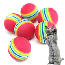3/6/9pcs Colorful Pet Cat Dog Kitten Soft Foam Rainbow Play Balls Toys  Funny