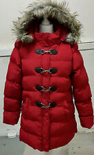 NEW Women's Ex P Padded Hooded Jacket with Detachable Faux Fur Trim Hood