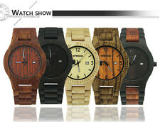 YFWOOD Man Watch Wood Japan Movt Analog Date Business Mens Watch Lady Watch