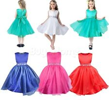 Flower Girl Princess Dress Kids Bowknot Wedding Party Prom Pageant Formal Dress