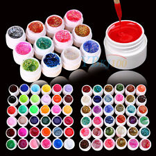 12/24/36 Mix Color Solid Pure Glitter Gel Acrylic Set UV Builder Nail Art Decor