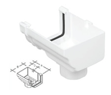 Marley Classic RCO52 Rainwater Ogee Gutter Stop End Right Hand Stopend Outlet