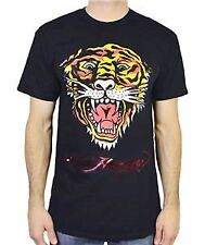 ED HARDY EH TIGER MENS SHORT SLEEVE CREW NECK T-SHIRT TEE BLACK SOLID TEE