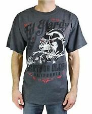 ED HARDY MEN'S DEATH OR GLORY PANTHER PRINTED S/S CREW NECK T-SHIRT GREY MSRP28