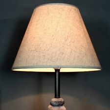 Cotton Textured Fabric Drum  Lamp Shade Table Ceiling Light Cover Anti-fire Home