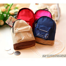 Mini Small Cute Women Lady Girl Pouch Coin Purse Backpack Canvas Bag Wallet FL