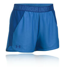 Under Armour Play Up Womens Blue Training Shorts Sports Pants Bottoms