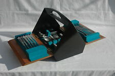 42 Pc Vintage Firth Staybrite Butler Sheerline Stainless Cutlery Set Canteen Box