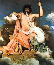 Neolassical Greek myth art print:  Zeus and Thetis by Ingres