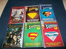 LOT OF 6 MARVEL & DC COMIC BOOKS XMENE, SUPERMAN ,