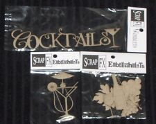 SCRAP FX Chipboard 'WINERY/COCKTAILS' Embellishments (Choose from 3 designs)