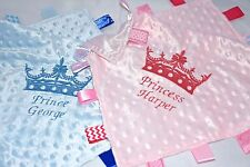 Personalised Tags Blanket/Baby comforter/Blanket with Victorian Crown for Baby