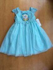 NWT DISNEY STORE Frozen Fever Elsa PARTY DRESS SZ 5/6 Girls