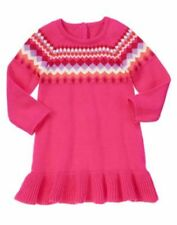 NWT Gymboree Color Happy Girl Dress SZ 2T Chevrons Sweater Dress Toddler