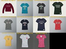 NWT WOMENS ABERCROMBIE & FITCH LOGO GRAPHIC TEE L M S XS A&F
