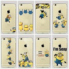 Despicable Me Funny Minion Minions Soft TPU Case Cover For iPhone 5 5s 6 6S 7