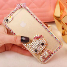 Crystal Rhinestone Hello Kitty Clear Bling Case for iPhone 4 4s 5 5s 6 7 plus