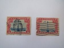"""2~VTG~ 5 Cents U.S. Postage Stamps """"AIR MAIL"""" C-11 1928"""