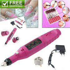 Polish Pen Shape Electric Nail Drill Machine Art Salon Manicure File Tool Set XJ