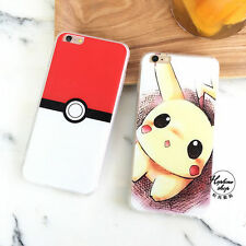Cartoon Lovely Adorable Pokemon Go Pikachu Hard Case For iPhone 7 7Plus 6 6S 5S