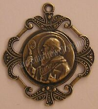 St Benedict Antique Replica Medal Pendant Sterling Silver Bronze #808