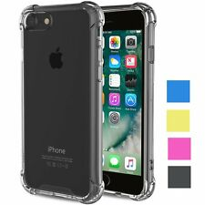 For Apple iPhone 7 Soft TPU Slim Bumper Shockproof Protector Crystal Clear Case