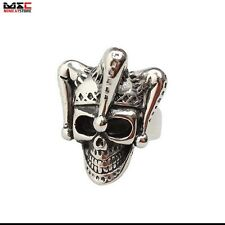 Mens Cool Steel Silver Fashion Skull Gothic Punk Biker Finger Rings Jewelry Ring