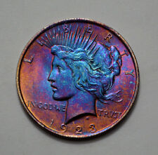 1923-P  Peace Dollar VERY NICE Silver Coin  , Toned,   No Reserve !!!!