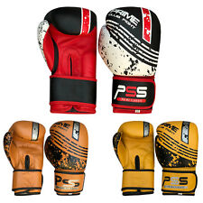 Leather boxing gloves MMA Muay fight kick boxing punch training gloves 1051-1053