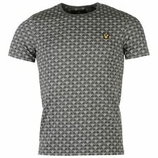 Lyle and Scott Jacquard T Shirt Crew Neck Mens