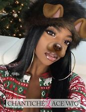 Full Lace Wigs Human Hair Silky Straight Indian Remy Wigs For African Americans