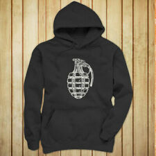 VINTAGE GRENADE ARMY MILITARY SPECIAL FORCES BOMB Womens Charcoal Hoodie